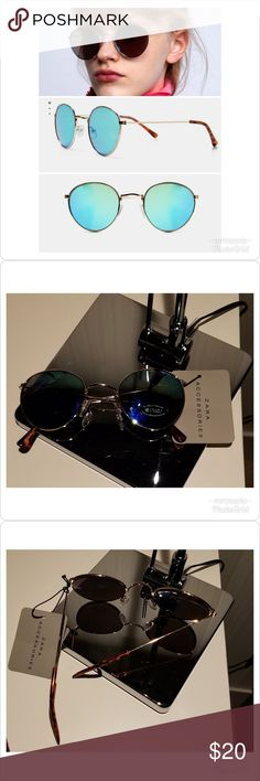 a1e96c531bf Zara Round Sunglasses Zara round metal sunglasses with mirror lenses.  100%  UV protection
