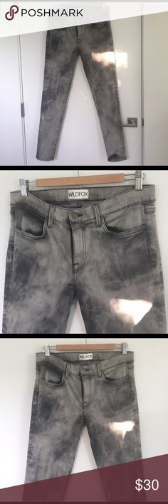 WILDFOX jeans Tie die style black and white jeans. Size 31 but run smaller. Wildfox Jeans