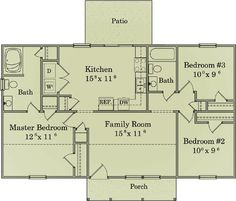 Simple Ranch Design - 11919LW | 1st Floor Master Suite, CAD Available, Narrow Lot, PDF, Ranch, Split Bedrooms, Traditional | Architectural Designs