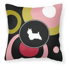 Carolines Treasures Silky Terrier Decorative Outdoor Pillow - KJ1056PW1414