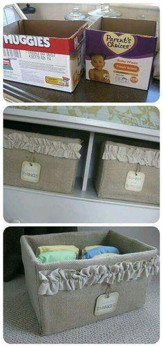 Cajas de cartón muy bien adornadas