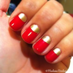 red + gold half moon design to show SF 49ers spirit - go Niners!