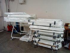 www.bakirogluteknik.com Katlanır tekerlekli büyük boy masa.