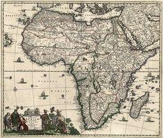 Antique Map of Africa c1688  #antique #maps #Africa