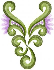Swirl free embroidery design. Machine embroidery design. www.embroideres.com