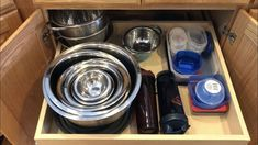 I love an organized space, and kitchen storage can be a challenge. I wanted to share how I organize some of my cookware and storage containers in my kitchen, an… Upright Freezer, Craft Cabinet, Kitchen Storage Containers, Disinfecting Wipes, Corn Hole Game, Scrap Material, Diy Tv, Magazines For Kids, Foam Mattress