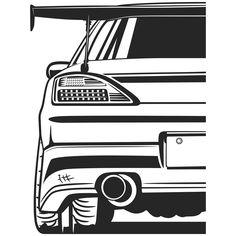 Look Wallpaper, Jdm Wallpaper, Car Drawing Pencil, Drawing Drawing, Car Animation, Jdm Stickers, Car Silhouette, Car Tattoos, New Luxury Cars