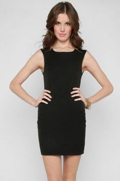 LBD with zipper details.    Zipline Dress in Black $50 at www.tobi.com