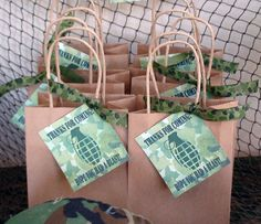 army favor bags