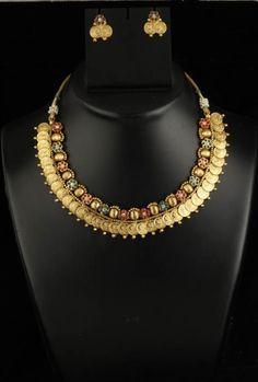 Indian Bollywood Polki Women Wear Ethnic Designer Dangle Nacklace Earrings Set in Jewelry Sets | eBay