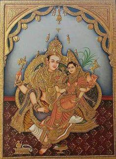 Mysore Painting, Kalamkari Painting, India Painting, Tanjore Painting, Mural Painting, Indian Traditional Paintings, Indian Art Paintings, Scratchboard Art, Outline Drawings