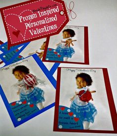 #Frozen Inspired Personalized valentines for Valentine's Day