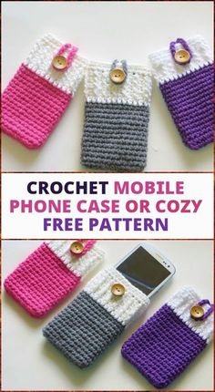 Crochet Phone Pouch free crochet mobile phone case or cozy - If you are very skilled at art of crocheting then these 50 free crochet phone case patterns are only for you to tryout at home as they will make Crochet Phone Case Pattern Free, Crochet Phone Cover, Cell Phone Pouch, Mobile Phone Cases, Phone Covers, Crochet Gratis, Free Crochet, Quick Crochet, Diy Phone Case Design