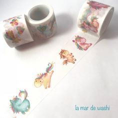 Consigue este nuevo modelo de Washi Tape con unicornios de preciosos colores ¿lo vas a dejar escapar?