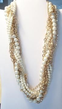 MULTI-STRAND FASHION NECKLACE BY ERICA LYONS- FREE SHIPPING