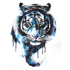 Tattoo Trends – Blue Watercolor Tiger Tattoo Design nice Tattoo Trends – Blue Watercolor Tiger Tattoo Design … This image. Watercolor Tiger, Watercolor Design, Tattoo Watercolor, Tiger Painting, Tiger Artwork, Watercolor Galaxy, Painting Art, Dog Tattoos, Animal Tattoos