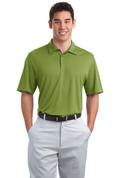 Port Authority® - Poly-Bamboo Charcoal Birdseye Jacquard Polo. 53/47 poly/poly from bamboo charcoal. UPF rating of 50. Double-needle stitching throughout. Self-fabric collar. 3-button placket with tonal piping. Open hem sleeves with tonal piping. Contrast fabric side vents. Colors: Black / Green Oasis / Moonlight Blue / Rich Red. Adult Sizes: XS-4XL  $30 range  The Poly-Bamboo pieces are silky soft!