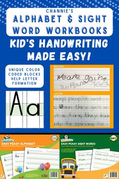 Print Handwriting, Handwriting Worksheets, How To Write Neater, Early Years Teaching, Writing Lines, Visual Learning, Alphabet Cards, Home Schooling, Sight Words