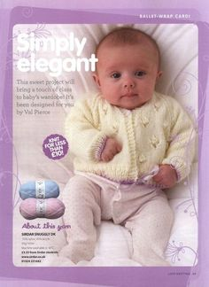 Love Knitting for Babies 2011 09 Baby Cardigan Knitting Pattern Free, Love Knitting, Baby Boy Knitting Patterns, Knitted Baby Cardigan, Knit Baby Sweaters, Knitted Baby Clothes, Knitting Books, Crochet Baby Booties, Knitting For Kids