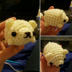 Polar bear! A new mini fat plushie design :] Syppah's Cute Creations - Etsy - Facebook - dA - Instagram Crocheted plushies, WIP updates, and more
