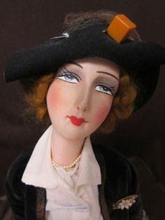 """All Original French Boudoir doll 22""""  """"Marlene"""""""