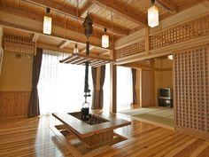 another Japanese irori, modern mix Modern Japanese Interior, Japanese Modern House, Japanese Home Decor, Japanese Design, Asian Architecture, Interior Architecture, Interior Design, Japan Apartment, Irori