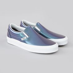 patent leather slip on vans