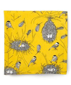 Take a look at this Yellow Bird's Nest Napkin - Set of Four by danica on #zulily today!