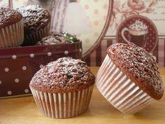 Corteza y miga: Magdalenas esponjosas de chocolate con thermomix