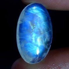 Loose Diamonds & gemstones 100 % Natural 8.65cts.OVAL cab RAINBOW MOONSTONE #Handmade