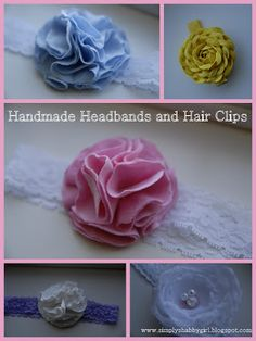 simply shabby: DIY headbands and flowers