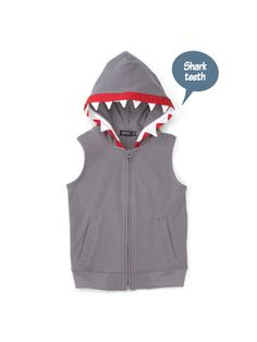 SHARK HOODIE - like the red and the sleeveless
