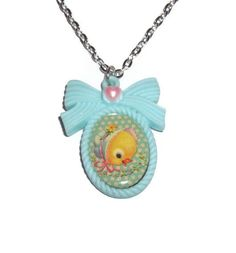 Baby Animal Necklace Cute Duckling Kawaii by KitschBitchJewellery, $11.99
