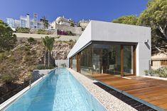 Ascoz Arquitectura. Vivienda en la playa de Cullera. Piscina.