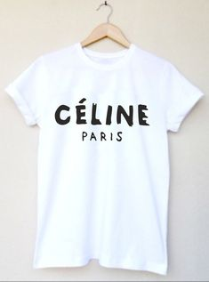 PLEASE MAKE SURE TO CHECK YOUR SIZE IS CORRECT BEFORE PURCHASE    Printed in High Quality Black Vinyl    *This is a replica of the Celine Logo*    See