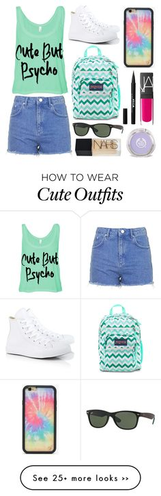 """""""Untitled #523"""" by shinellezs on Polyvore featuring Topshop, Converse, Wildflower, Ray-Ban, Stila and NARS Cosmetics"""