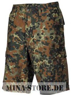 mina-store.de - US BDU Bermuda Seitentaschen flecktarn #Bundeswehrshop