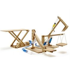 The Hydraulic Machines Pack brings four wooden machines to life with hydraulic power. Build a platform lifter, scissor lift, cherry picker & excavator. Science Projects For Kids, School Projects, Diy Projects, Rainbow Resource, Natural Playground, Playground Ideas, Office Supply Organization, Science And Nature, Science Fair