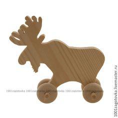 """Купить Заготовка деревянной игрушки """"Лось"""" для росписи - деревянная игрушка, игрушка для детей, игрушка из дерева"""
