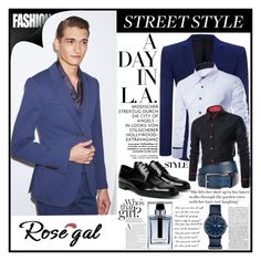 """""""Rosegal Contest"""" by samirhabul ❤ liked on Polyvore featuring Alexander McQueen, Prada, Christian Dior, Paul Smith, Lacoste, men's fashion and menswear"""