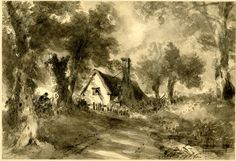 The Cottage in the Lane by John Constable 1827