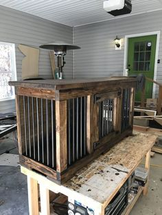 How To Build An Indoor Dog Kennel — 731 Woodworks - We Build Custom Furniture. DIY Guides - Monticello, AR How to build an indoor dog kennel. This indoor kennel doubles as a place to keep your dogs as well Dog Kennels And Crates, Cheap Dog Kennels, Diy Dog Kennel, Kennel Ideas, Custom Dog Kennel, Pet Kennels, Diy Kennel Indoor, Tv Stand Dog Kennel, Outdoor Dog Kennel