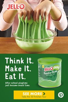 Stretch, squeeze, pull and repeat! JELL-O PLAY edible slime is the perfect after school activity for you and your kids. Toddler Activities, Activities For Kids, Fun Crafts, Crafts For Kids, Bible Crafts, Edible Slime, Projects For Kids, School Projects, Art Projects