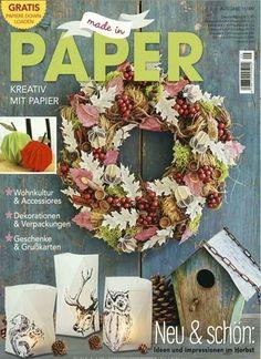 Neu & schön: Ideen und Impressionen im Herbst. Gefunden in: Made in Paper, Nr. 9/2016