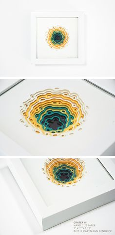 The fine paperworks of Caryn Ann Bendrick, an artist whose paper based works are tactile meditations on repetition and the dichotomy of destruction and creation. Made A Mano, Modern Art, Contemporary Art, New Media Art, Paper Artwork, Papercutting, Paper Artist, Cut Paper, Art Object