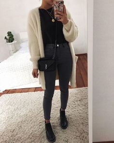 Winter Fashion Outfits, Spring Outfits, Autumn Fashion, Autumn Outfits, Fashion Dresses, Fashion Clothes, Black Women Fashion, Look Fashion, Womens Fashion