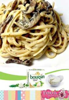 "Linguine with creamy mushroom sauce. Pinner said: ""This is one of my favorite comfort food recipe Linguine with mushroom creamy sauce. just SUB the margarine with Earth Balance"" Italian Recipes, Great Recipes, Damn Delicious Recipes, Pasta Recipes, Cooking Recipes, Linguine Recipes, Mushroom Cream Sauces, Mushroom Sauce, Mushroom Pasta"