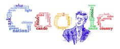 Anniversary of JFK's Inauguration лет с момента инаугурации Джона Кеннеди] /This doodle was shown: /Countries, in which doodle was shown: United States Logo Google, Art Google, Google Doodles, Inaugural Speech, Tag Cloud, Interactive Map, King Jr, Typography Art, Dates