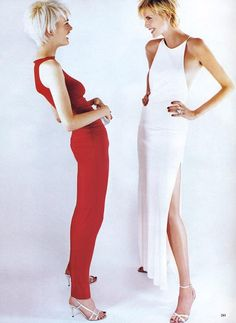 Kylie Bax and Nadja Auerman for Vogue US November 1996 Fashion Goes to Great Lengths...
