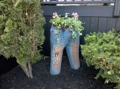 Recycle and Upcycle Denim Jeans into Cute and Quirky Planters